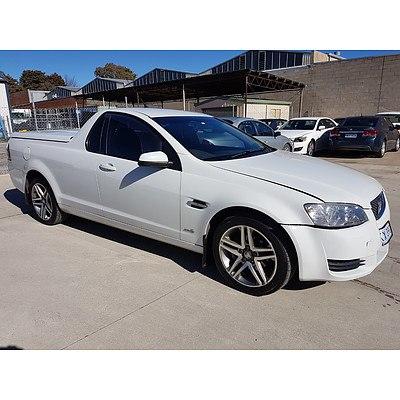 2/2011 Holden Commodore Omega VE II Utility White 3.0L