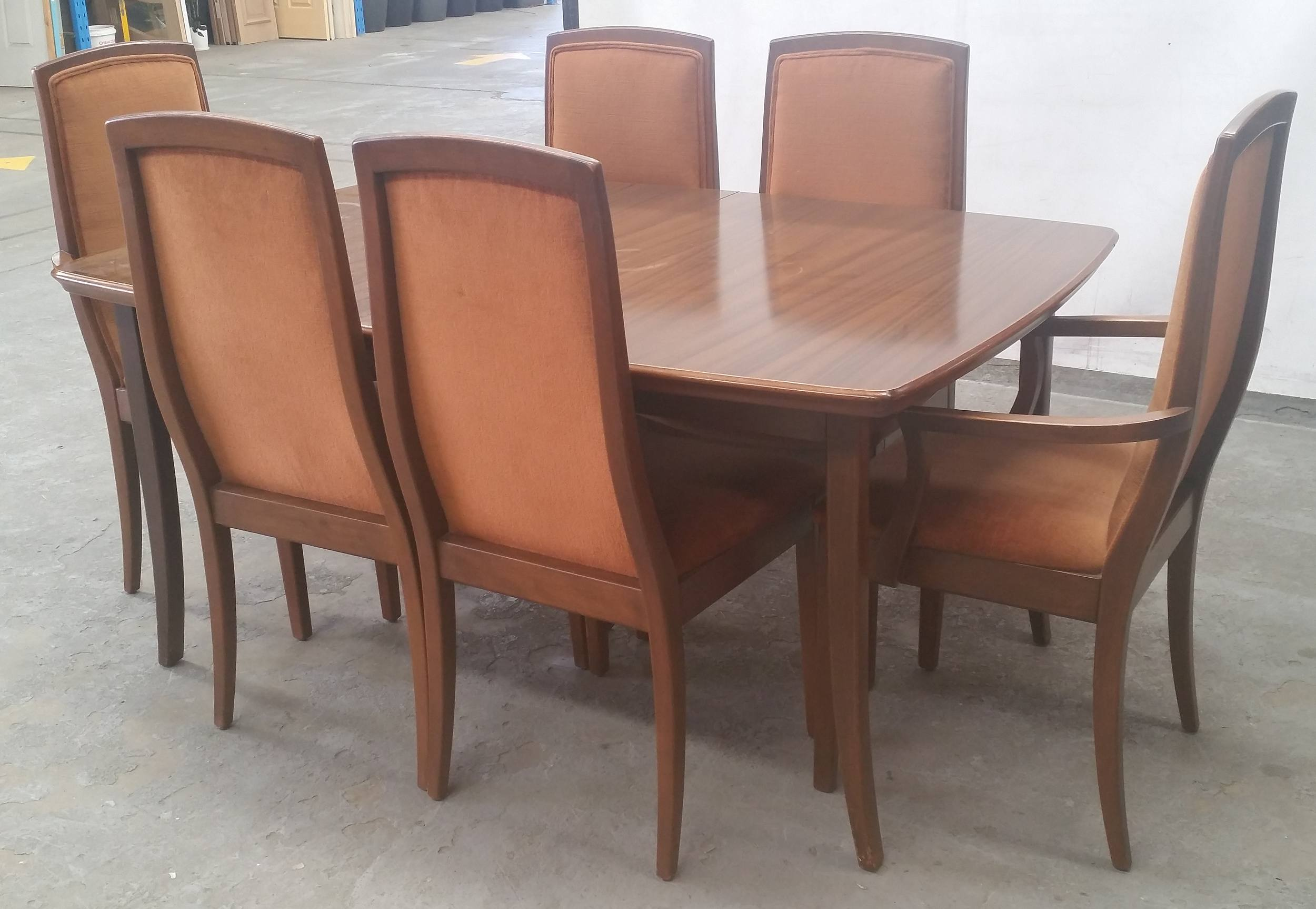 Stained Timber Extending Dinning Lot 1061988 Allbids