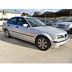 6/2004 BMW 318i Executive E46 4d Sedan Silver 2.0L