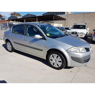 9/2008 Renault Megane Expression 4d Sedan Silver 2.0L