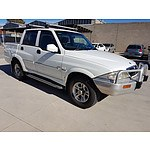 5/2005 Ssangyong Musso Sports (4x4)  Dual Cab P/up White 2.9L