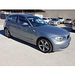 2/2008 BMW 120i E87 MY09 5d Hatchback Grey 2.0L