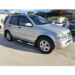 6/2002 Mercedes-Benz ML320 Luxury (4x4) W163 4d Wagon Silver 3.2L