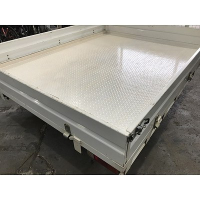 Trans Alloy White Steel Ute Tray