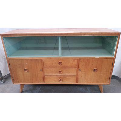Vintage Maple Veneer Buffet Unit