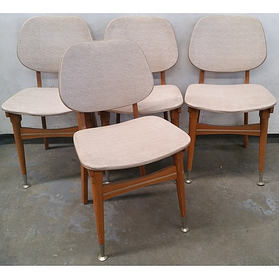 Vintage Retro Dining Chairs - Lot of Four