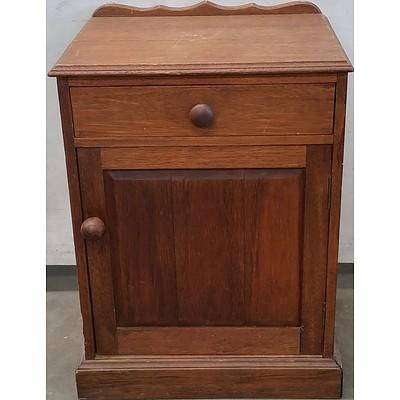 Rustic Hardwood Bedside Table