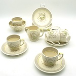 Vintage Susie Cooper Crown Works Demitasse Setting For Six