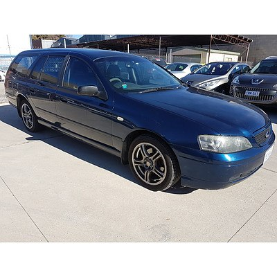 12/2003 Ford Falcon XT BA 4d Wagon Blue 4.0L