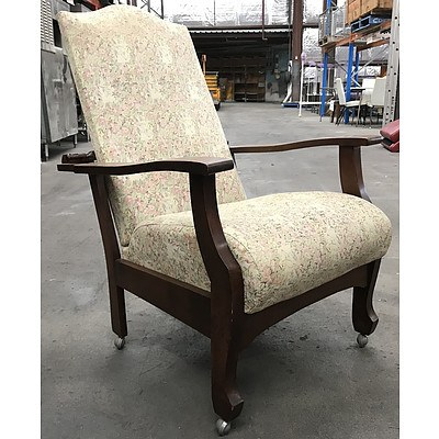Vintage Maple Reclining Morris Chair