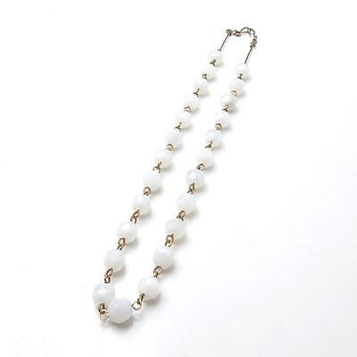 Antique Necklace with Faceted Moonstones