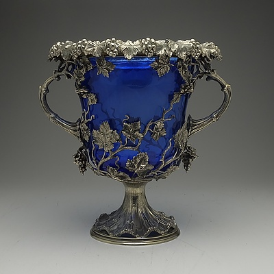 Sheffield Plate Two Handled Wine Cooler, English, Circa 1840