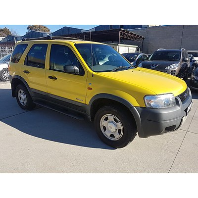 11/2001 Ford Escape XLS BA 4d Wagon Sunshine Yellow 3.0L