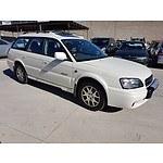 5/2001 Subaru Outback H6 MY01 4d Wagon White 3.0L