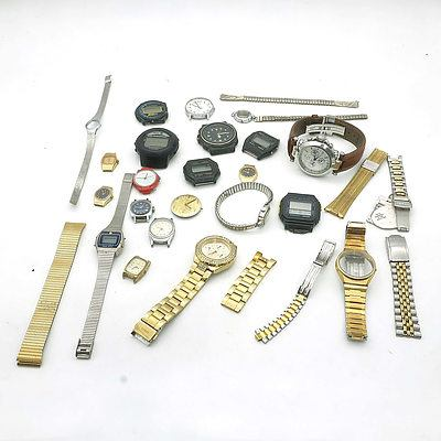 Group of Watches, Parts and Accessories