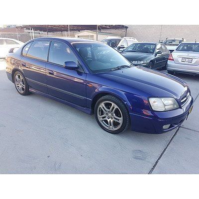 4/2000 Subaru Liberty RX MY00 4d Sedan Blue 2.5L