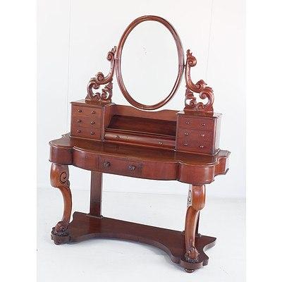Victorian Mahogany Dressing Table Circa 1880