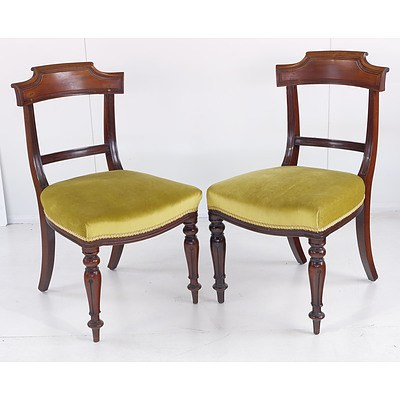 Eleven Early Victorian Mahogany Dining Chairs Circa 1850