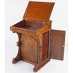 Good Early Victorian Rosewood Davenport with Pierced Brass Gallery Circa 1850