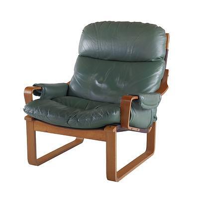 Tessa T8 Light Green Leather Upholstered Armchair