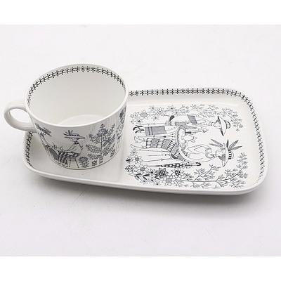 Arabia Mug and Plate Pair