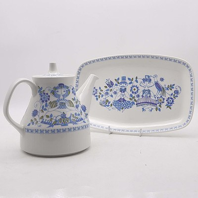 Figgio Norway Teapot and Cake Plate