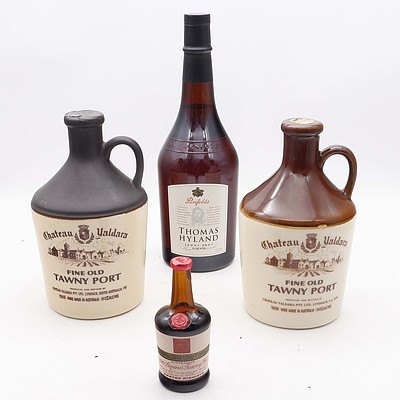 Four Bottles of Tawny Port Alcohol