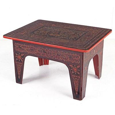 Vintage Burmese Lacquer Folding Table