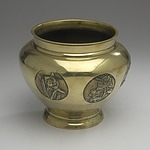Japanese Polished Bronze Vase