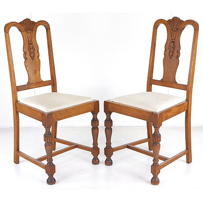 Four Oak Dining Chairs Circa 1920s