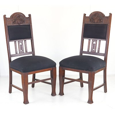 Four Tasmanian Blackwood Dining Chairs, Early 20th Century