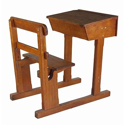 Vintage Tasmanian Oak School Desk