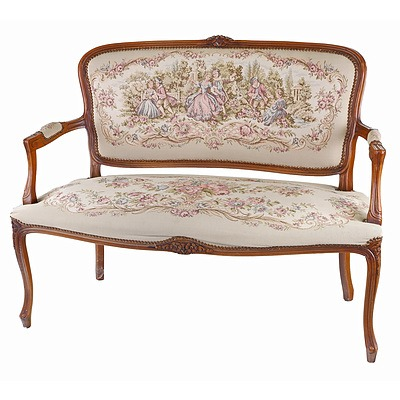 Louis XV Style Beech and Tapestry Upholstered Salon Suite