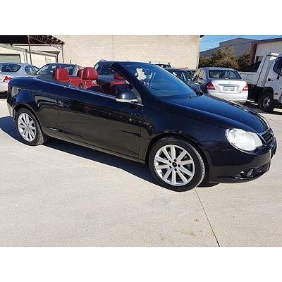 3/2007 Volkswagen Eos 2.0 TDI 1F 2d Convertible Black 2.0L