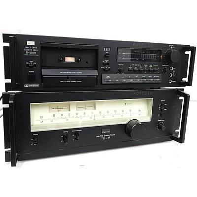 Sansui TU-417 AM/FM Tuner & D-550M Direct Drive Cassette Deck