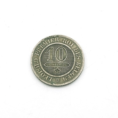 1861 Belgium 10 Centimes