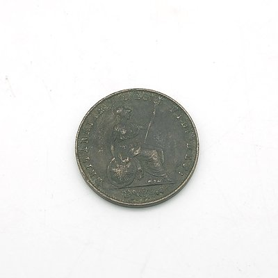 1857 Queen Victoria Penny