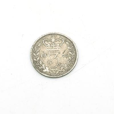 1876 Queen Victoria Three Pence