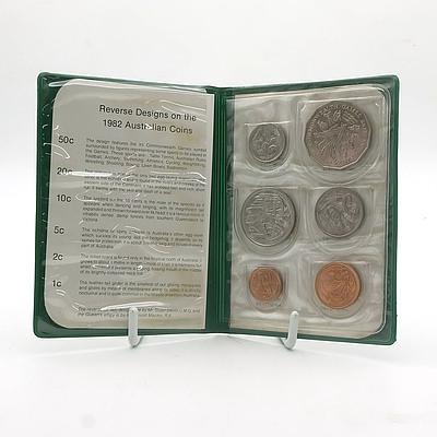 1982 Australian Commonwealth Games Six Coin Set