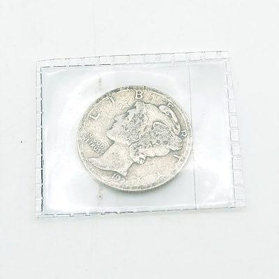 Rare 1921 US 'Mercury' Dime