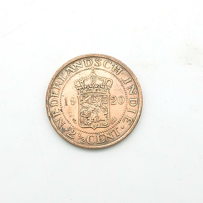 1920 Nederland East Indies 2 1/2 Cent