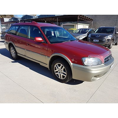 3/2000 Subaru Outback  MY00 4d Wagon Red 2.5L
