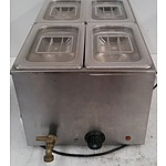 Four Pan Bench Top Bain Marie
