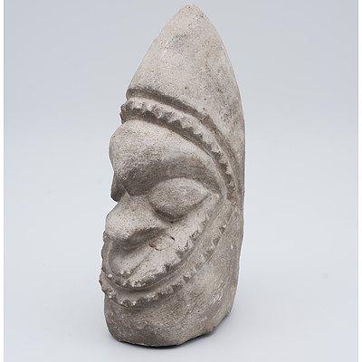 Vanuatu Carved Stone Effigy