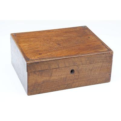 Solid Mahogany Box, English 19th Century