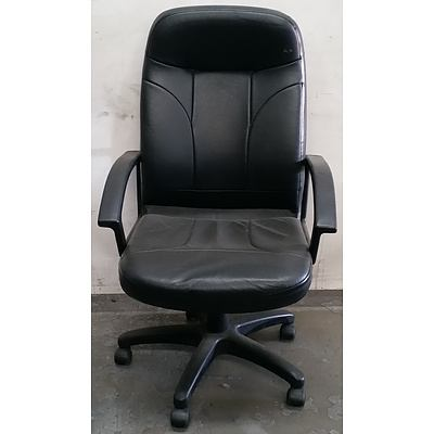 Black Leather Style Office Chair