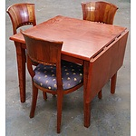 Interesting Stained Timber Table & Chairs