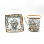 A Boxed Rosenthal Versace Mug and Matched Dish