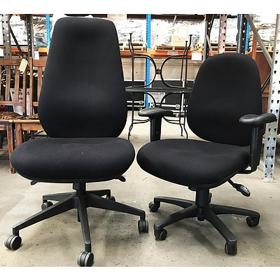 Chair Solutions Black Task Chairs - Lot of 2 - Ex Demonstration Models