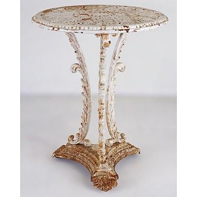 Genuine Victorian Cast Iron Garden Table, British Circa 1880